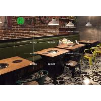 定制主题餐厅涮烤一体餐桌 主题烧烤桌 深圳多多乐家具现代韩式餐厅家具