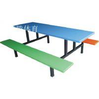 专业供应福建学校食堂餐桌椅 厦门玻璃钢连体餐桌热销康腾体育