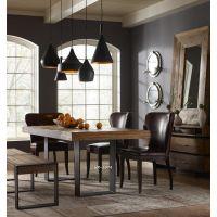 厂家直销美式西餐厅餐桌椅组合 实木办公桌饭店长桌  北欧风情