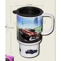 热转印汽车杯厂家直销印不锈钢杯白色热转印汽车杯个性定制
