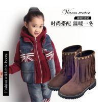 2014冬新款爆款儿童马丁靴韩时尚女童真皮单靴女童靴厂家直销批发