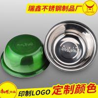 供应企业品牌推广定做广告宣传小礼品彩色碗 不锈钢调料缸