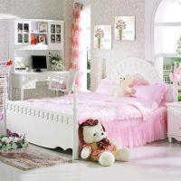 长沙博丰家居尚多BT305象牙白 韩式田园风 卧室公主床1.5米儿童床双人床婚床 简约格调实木大床