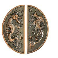 现代高档不锈钢拉手龙纹雕刻拉手2件起售