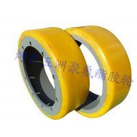 聚氨酯叉车轮 高耐磨防脱胶叉车轮 电动手动叉车轮 PU轮