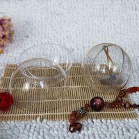 8CM 透明圣诞球 PS透明球 二半开合球 硬质透明球 规格齐全