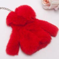 皮草手机挂件獭兔毛汽车钥匙挂件钥匙包扣链水貂小衣服创意小礼品