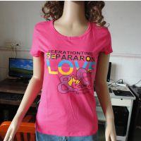 女装韩版纯棉T恤印花字母时尚潮流T恤打底衫便宜批发