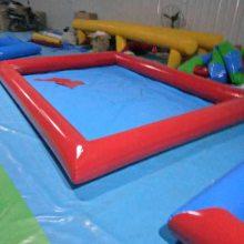 广州儿童沙滩玩具加盟/心悦pvc充气沙滩池/决明子沙坑/充气水池摸鱼池多少钱一平