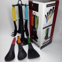 尼龙厨具7件套 塑料厨具套装 彩盒厨具