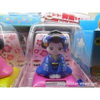 JS-7175 太阳能公仔 汽车装饰品 太阳能玩具  日本女人太阳能公仔