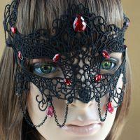 性感蕾丝面具舞会 表演万圣节化妆party面纱 外贸首饰品批发 MJ11