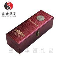 深圳上海北京现货红酒皮盒 单支红酒盒 红酒礼品盒 红色单支酒盒