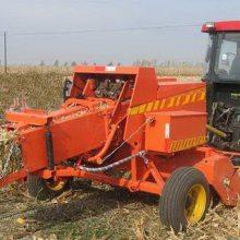能把青秸秆粉碎再打成草块的机器 小麦收割机出草口按装的打包机