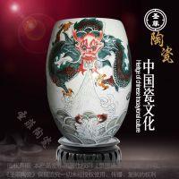 景德镇青花瓷养生御足缸圣菲活瓷能量灸足缸桑拿陶瓷缸 养生瓮厂
