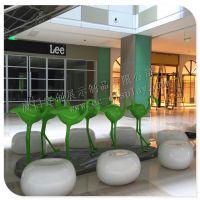 厦门宜创展示供应各类玻璃钢火烈鸟动物雕塑道具