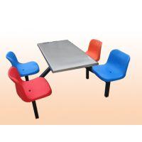 供应食堂餐厅4人连体餐桌椅 学校职工食堂工型专用餐桌 钢制不锈钢餐桌,