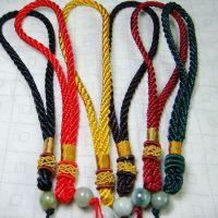 中国结手把件玉佩吊坠挂绳玉坠挂绳车挂饰品配件翡翠编织绳挂件绳