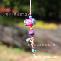 云南热销民族产品 木质小鼓挂件 新款东巴风铃CYZ1005