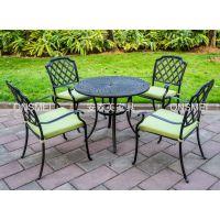 热销 铸铝圆桌 户外铸铝椅 欧式咖啡桌椅 花园家具(B693#)