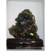 古青玉葫芦 雕刻摆件 进口天然玉石 云浮玉石工艺品 厂家直销