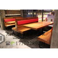天津卡座餐桌组合时尚卡座沙发