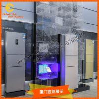 商场卖场冬季美陈DP仿真人造大冰块道具定制 透明冰块道具
