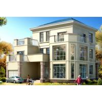 [江苏]法式风格四层叠拼别墅设计施工图