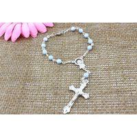 批发宗教饰品,rosary bracelet亚克力十字架手链,速卖通热销