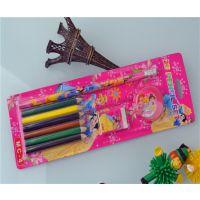 义乌文具批发卡通五件套装学生文具组合铅笔米奇公主KT猫迪士尼
