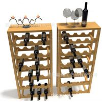厂家直供优质原色实木多功能厨房置物架 定做木制创意红酒架