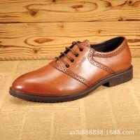 新款男鞋商务休闲皮鞋英伦系带手工雕花布洛克皮鞋流苏高档男士鞋