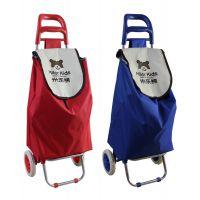 工厂定制超市购物车行李拉杆车老人便携折叠式手拉买菜车可印LOGO