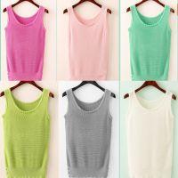 2015夏季新款女式韩版修身吊带纽扣装饰短款开叉小背心打底衫