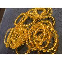 金珀手链纯天然波罗的海琥珀手串透明金色批发  海外国外琥珀货源