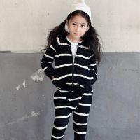 品牌童装liketoo6080条纹潮范女童套装 韩版童装 厂家童装批发