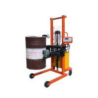 赣县油桶搬运车秤,油桶倒料车上加装电子秤