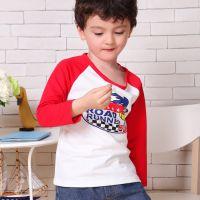 厂家直销卡通韩版男女宝宝小孩衣服 婴幼上衣 儿童打底衫