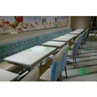 厂家直销:田园风格的餐厅家具批发 茶餐厅大理石桌 水晶白餐桌 可按店铺空间定做