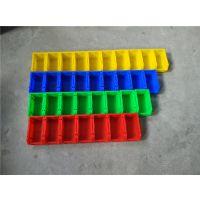 坚美塑业自产自销 斜口式塑料周转箱 带卡夹塑料零件箱