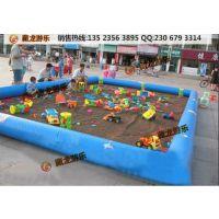 为什么小孩都喜欢玩沙池,充气摸鱼池给孩子们带来快乐