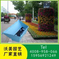 上海厂家直销大型节日庆典花柱绿化PP花盆 市政护栏立体绿化花盆