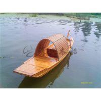 4.5米水乡乌篷木船 湖面木质乌篷船 传统乌篷手划船 纯手工制做