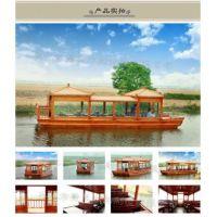 楚风木船厂家出售豪华水城威尼斯贡多拉游船澳门酒店装饰服务类船