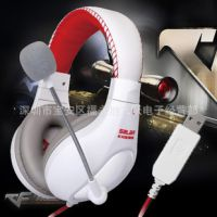 声籁KX235USB头戴式电脑耳麦带麦克风usb游戏耳机 大耳罩耳机批发