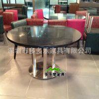 西餐厅大理石面餐桌椅 咖啡厅桌椅 连锁餐厅餐桌