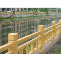 仿木护栏、河南仿木纹栏杆、园林仿木产品规格定制