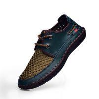 厂家直销 爆款 2014夏季新款男鞋 镂空 休闲透气鞋网鞋 头层牛皮
