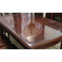 龙塑1.5台布透明水晶板 酒店圆桌环保塑料pvc防水隔热家用软玻璃