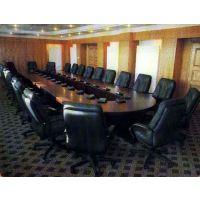 天津椭圆形会议桌/天津显示屏会议桌/大型会议桌多媒体图
